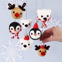 Boules de Noël des animaux polaires en Foam Clay et Silk Clay