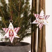 A Christmas Star from Design Paper with the Nutcracker Motif