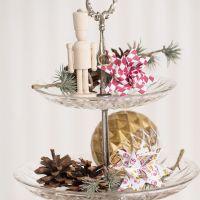 Une étoile de Noël tissée avec un motif Arlequin ou un motif de tambour