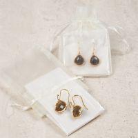 Boucles d'oreilles avec pendentif en pierre