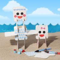 Pièces pour puzzle décorées avec marqueurs et tampons Plus Color