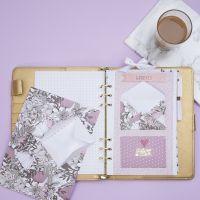 Une enveloppe pour y ranger de petits objets dans un Bullet journal et un agenda