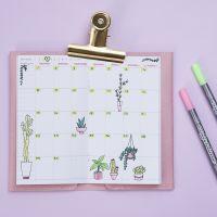 Un calendrier hebdomadaire décoré, pour bullet journal et agenda