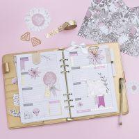 Agenda de 5 semaines décoré, pour Bullet journal et calendrier