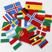 Les drapeaux du monde faits en perles à repasser Nabbi