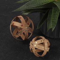 Boules décoratives en papier imitation cuir