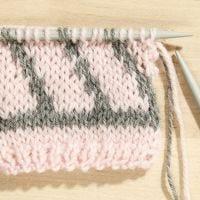 Comment tricoter du Jacquard avec deux couleurs