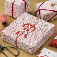 Emballage cadeau créatif avec un pantin