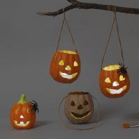 Des lanternes en terre cuite et papier mâché pour Halloween