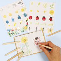 Apprenez à dessiner des insectes et des fleurs dans un carnet dédié à la nature