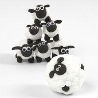 Mini jeu de quilles Shaun le Mouton en pâte Foam Clay et Silk Clay