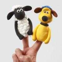 Des marionnettes à doigts Shaun le Mouton en pâtes Silk Clay et Foam Clay