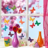 Colourful butterflies from Fimo modelling clay