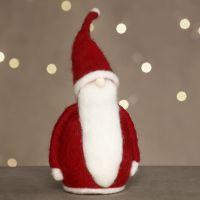 Un père Noël feutré à l'aiguille sur du polystyrène