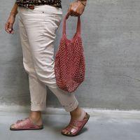 Un sac à provisions crocheté en fil de coton