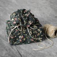 Emballage cadeau en tissu patchwork réutilisable
