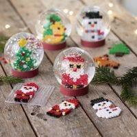 Boules à neige décorée figurines de Noël en perles à repasser Nabbi