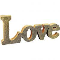 Un mot peint et décoré avec des paillettes
